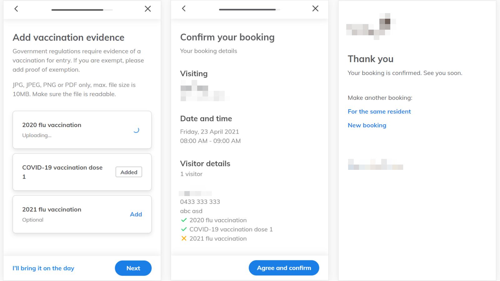 Online booking app