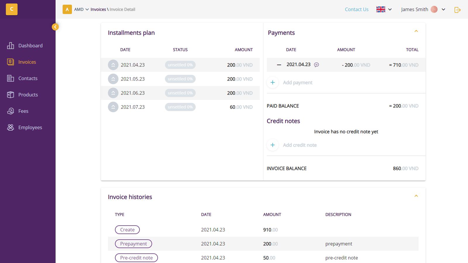Installment payment